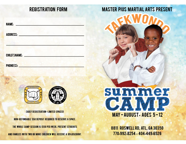 2018 Summer Camp Brochure page 1