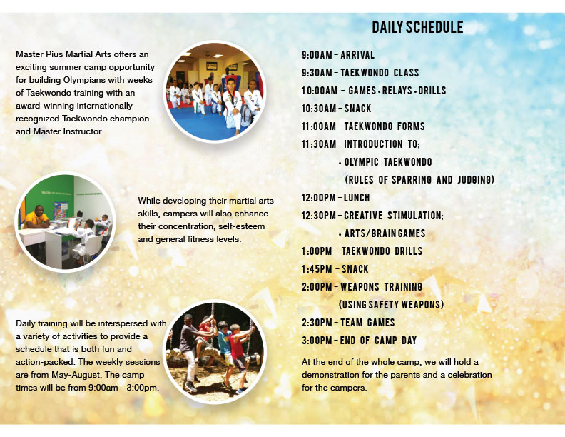 2018 Summer Camp Brochure page 2