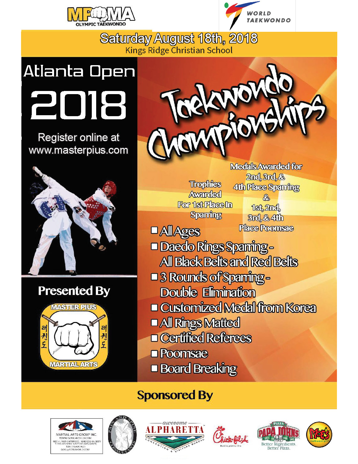 2018 Tournament Flyer