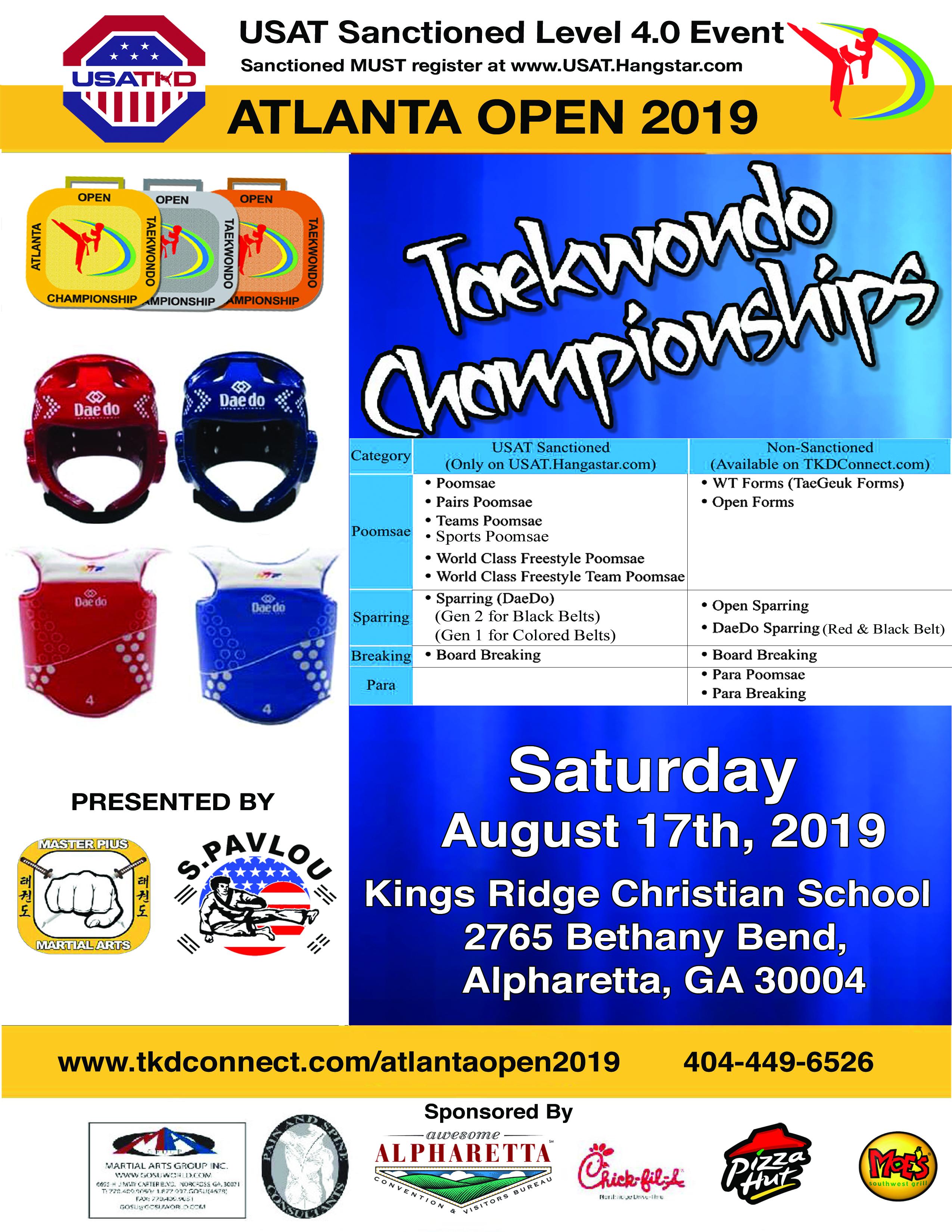 2019 Tournament Flyer